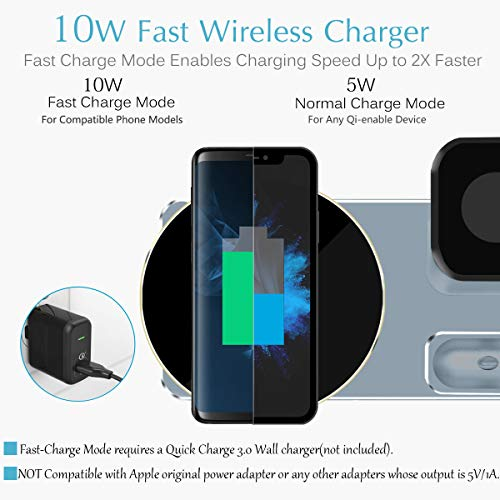 JingooBon 10W Fast Wireless Charger Stand for iPhone Xs Max