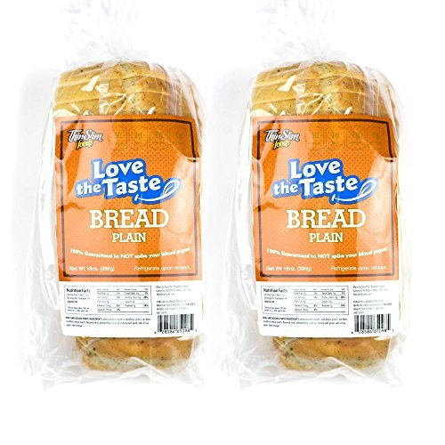 ThinSlim Foods Love-The-Taste Low Carb Bread, 2pack (Plain) - Atkins Diet Bread