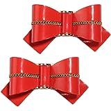 FROUFROUZ - Mujer Clips de Zapatos Decoraciones Prendedores Adornos para Zapatos Jeny Rojo - 1 Par