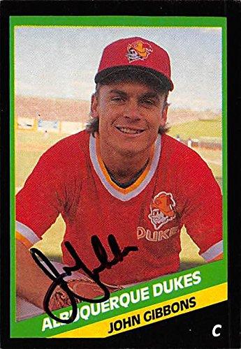 John Gibbons Autographed Baseball Card Minor League