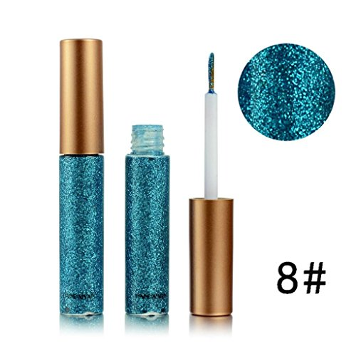 SMYTShop Metallic Shiny Smoky Eyes Makeup Eyeshadow Waterproof Glitter Liquid Eyeliner - Smoke Purple Dark