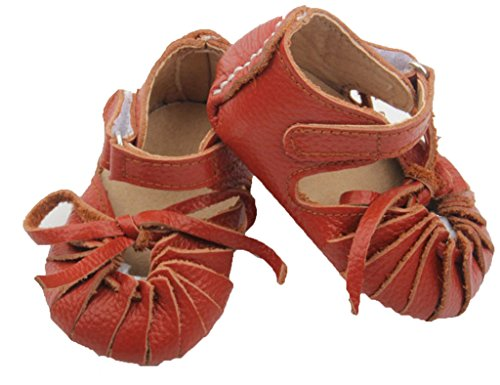 Expressive Boutique Unisex Baby Leather Brown Moccasin Sandal (Outlet 22 Overall)