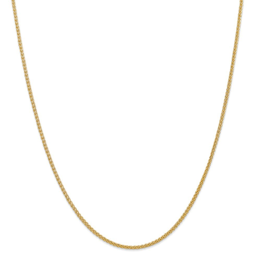 14k Yellow Gold 2mm Spiga (Wheat) Chain 20 inch Necklace 3.9g