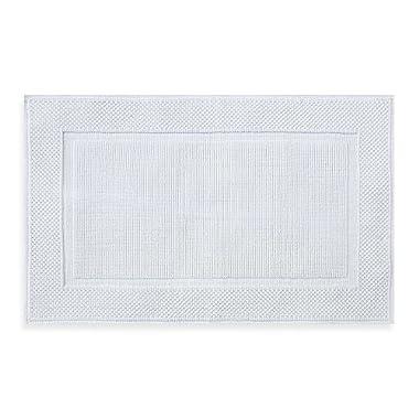 Wamsutta Jacquard 20-Inch x 33-Inch Ring-Spun Cotton Bath Rug in White