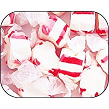 Peppermint Red & White Gourmet Salt Water Taffy 1 Pound Bag