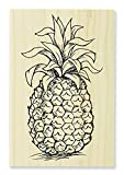 STAMPENDOUS Wood Rubber Stamp, Tropical Pineapple