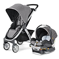 For older babies and toddlers, the Chicco Bravo Quick-Fold Stroller features a multi-position reclining backrest, five-point harness, and large adjustable canopy. For younger babies, the Bravo Stroller includes a free car seat adapter to acce...