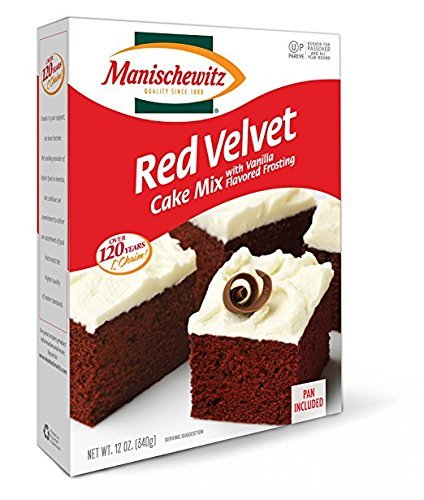 Manischewitz Red Velvet Cake Mix With Vanilla Flavored Frosting Kosher For Passover 12 oz. Pack of 3.