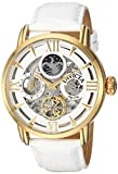Invicta Men's 'Objet d'Art' Automatic Stainless Steel and Leather Casual Watch, Color:White (Model: 22652)