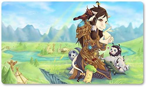 Warcraft105 – Juego de mesa de Warcraft tapete de mesa Wow juegos teclado Pad Tamaño 60 x 35 cm World of Warcraft Mousepad para Yugioh Pokemon MTG o TCG: Amazon.es: Oficina y papelería