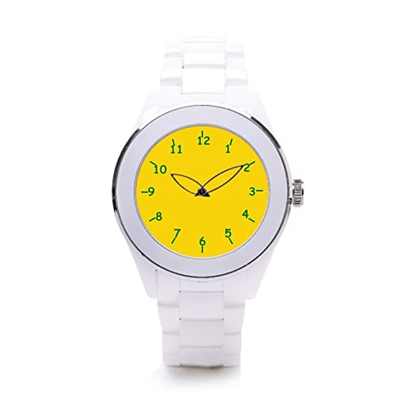 hiyane Vintage relojes limón y Lima colores blanco/plateado: Amazon.es: Relojes