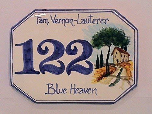 Numeri Civici In Ceramica.Numeri Civici E Targhe In Ceramica Paesaggio Con Podere