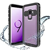 XBK Samsung Galaxy S9 Case, Waterproof Shockproof Case, Ultra Protective Case with Built-in Screen Protector Desgin for Galaxy S9 (5.8 Inch,Black)