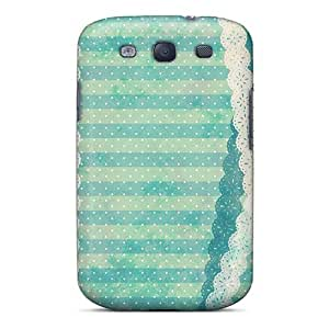 Premium Protection Lace Bow Wave Point Case Cover For Galaxy S3- Retail Packaging