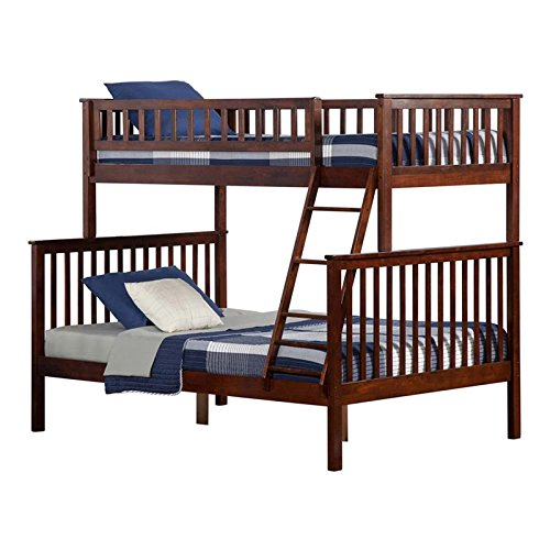 Atlantic Furniture AB56204 Woodland Bunk Bed, Twin/Full, Walnut ()
