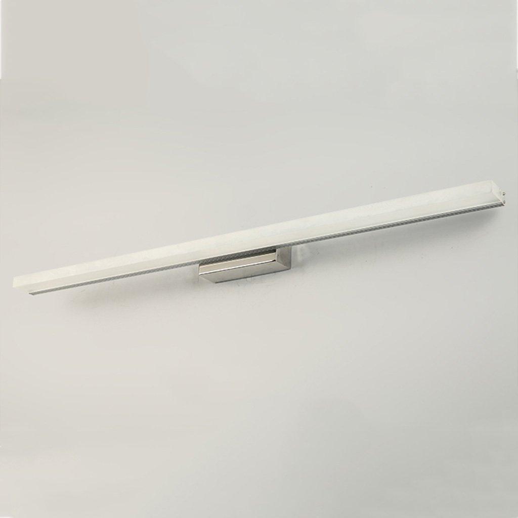badezimmerlampe LED-Spiegel Scheinwerfer, wasserdicht Nebel Badezimmer Spiegel Schrank Lichter Kupfer Acryl Schminklicht (Farbe   Weiß-16w80cm)