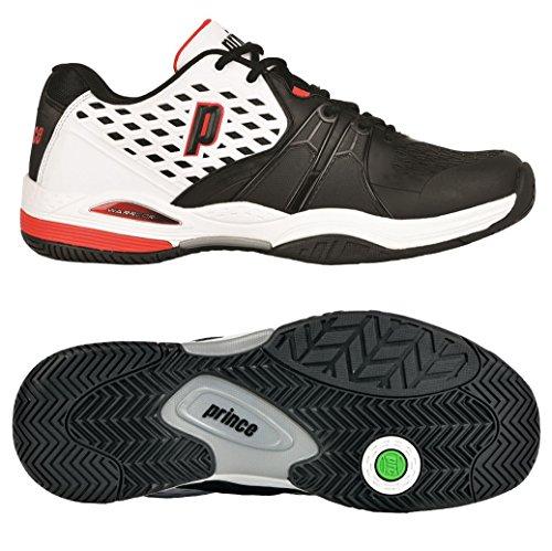 Prince Warrior para hombre zapatillas de tenis Blanco, negro y rojo