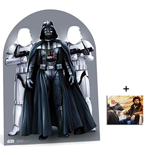 (Fan Pack - Star Wars Darth Vader and Stormtroopers Child Size Stand in Lifesize Cardboard Cutout/Standee/ Stand Up Includes 8x10 (20x25cm) Photo)