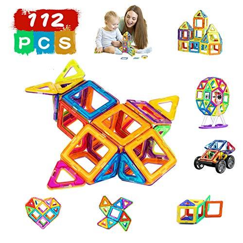 Magnetic Blocks, Magnetic Building Toys Set, Magnetic Tiles, Educational Toys, Party Gift for Baby/Kids,Best Christmas Birthday Gift,Preschool STEM Toy for Childrens from SYYNN