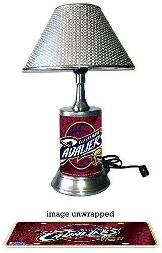 Cleveland Cavaliers Lamp with chrome shade