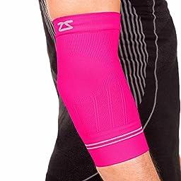Zensah Compression Tennis Elbow Sleeve for Elbow Tendonitis, Tennis Elbow, Golfer\'s Elbow - Elbow Support, Elbow Brace,Medium,Neon Pink