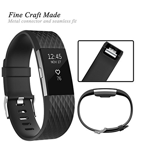 Wishesport For Fitbit Charge 2 Bands Special edition Replacement Bands Accessory Sport Bands Strap for Charge 2 HR Fitness