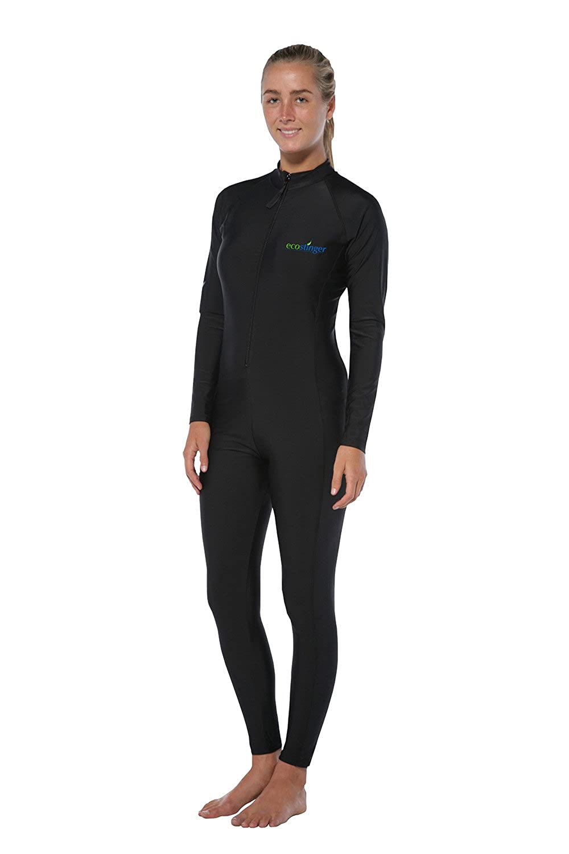 レディースフルボディStinger水着DiveスキンUV保護水着upf50 +ブラック B01EGGM79K