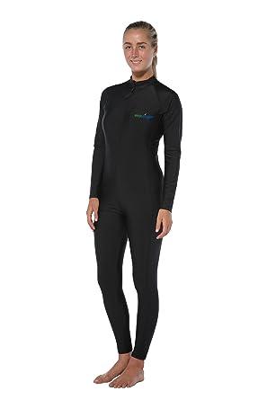 0c638ce013321 Women Full Body Stinger Swimsuit Dive Skin UV Protection Swimwear UPF50+  Black (XS)