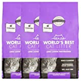 World's Best Cat Litter Lavender Scented Multiple Cat Clumping Formula, 15 lb, 3 Pack