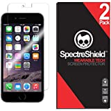 (2-PACK) Spectre Shield for iPhone 6 Plus / 6S Plus Screen Protector (Military-Grade) Flexible Full Coverage Ultra HD Clear Anti-Bubble Anti-Scratch Film