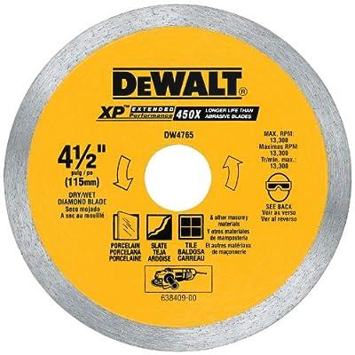 DEWALT DW4765 4-1/2-Inch by .060-Inch Porclean Tile Blade Wet/Dry