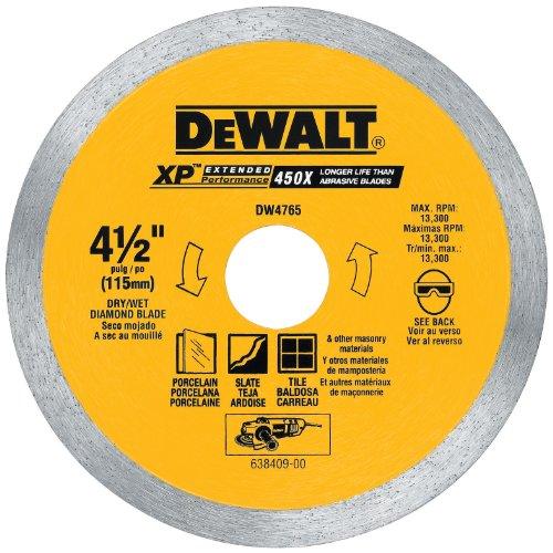 DEWALT DW4765 4-1/2-Inch Porclean Tile Blade Wet/Dry Dewalt Porcelain Tile Saw