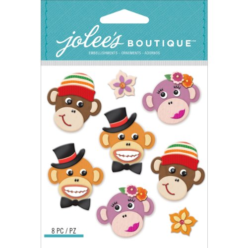 Jolee's Boutique Dimensional Stickers, Monkey ()