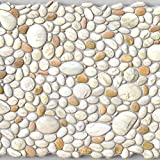 Pebble Pearl Stone PVC 3D Wall Panels - Interior Design Wall Paneling Decor Commercial and Residential Application, 3.2' x 2.1'