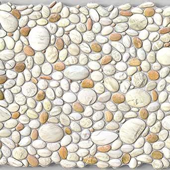 Amazon.com: Pebble Pearl Stone PVC 3D Wall Panels