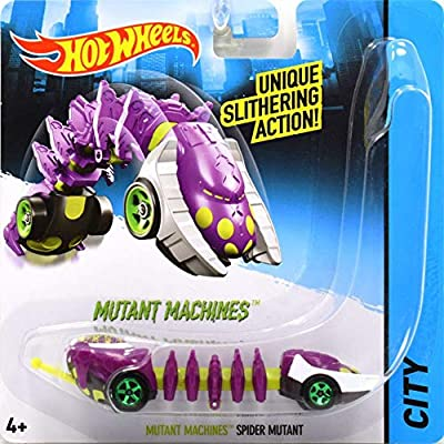 Mutant Machines Spider Mutant - Compatible with Hot Wheels and Made by Hotwheels ~ Unique Slithering Action Car ~ CGM85: Toys & Games