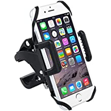 Badalink Bicycle Phone holder Universal Bicycle&Motorcycle Mount 360 Degrees Rotatable Cradle Clamp Bike Cellphone Cycling stamp for iOS iPhone Android GPS Rubber Strap Fit Any Smartphone
