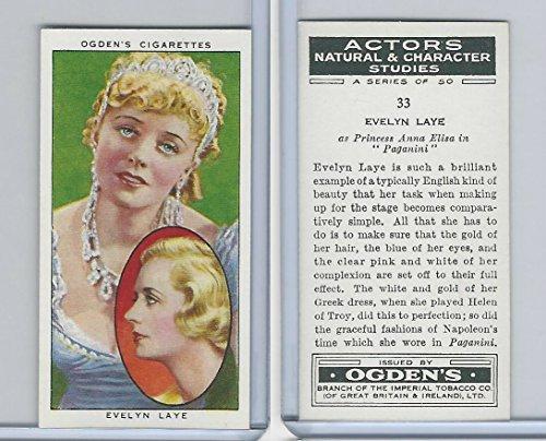 O2-123 Ogdens, Actors Natural & C. Studies, 1938, 33 Evelyn Laye