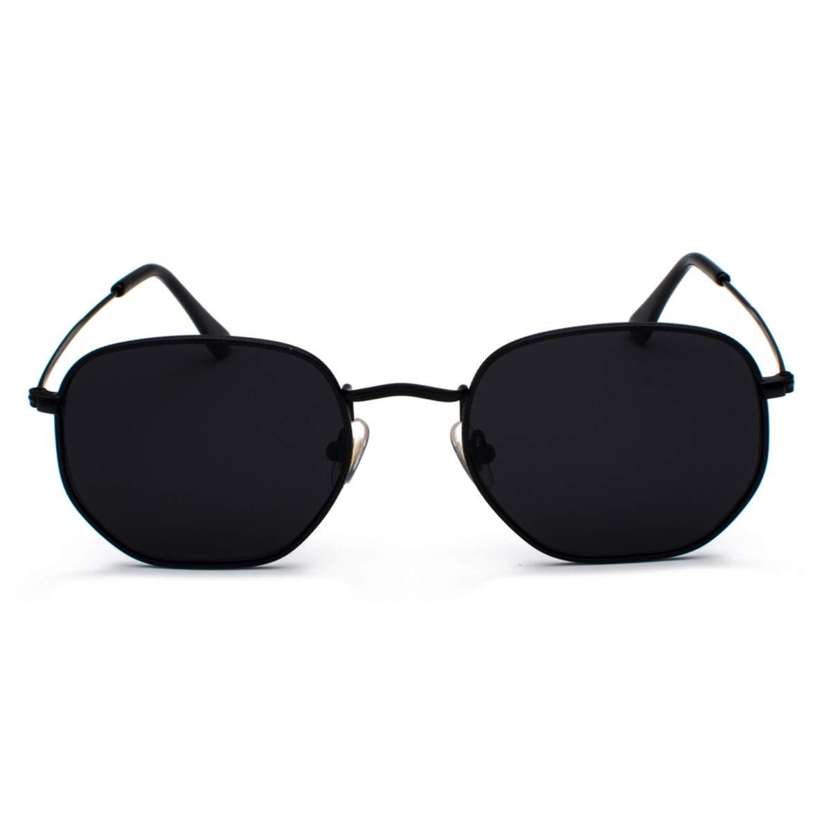 Vintage Gold Sunglasses Unisex Square Metal Frame Silver Brown Black Sun Glasses