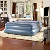 Simmons Beautyrest Skyrise 19-Inch Queen Pillow Top Express Air Bed with Pump, Outdoor Stuffs