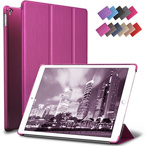 Super Slim Smart Leather Cover Case for Apple iPad Pro 9.7 (pink) - 7