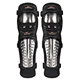 Lovescenario Protective Knee Pads Professional Knee Pads 1 Pair Knee Pads Stainless Steel Motorcycle Motocross Protective Gear Protector Guards Sports Armor Kit