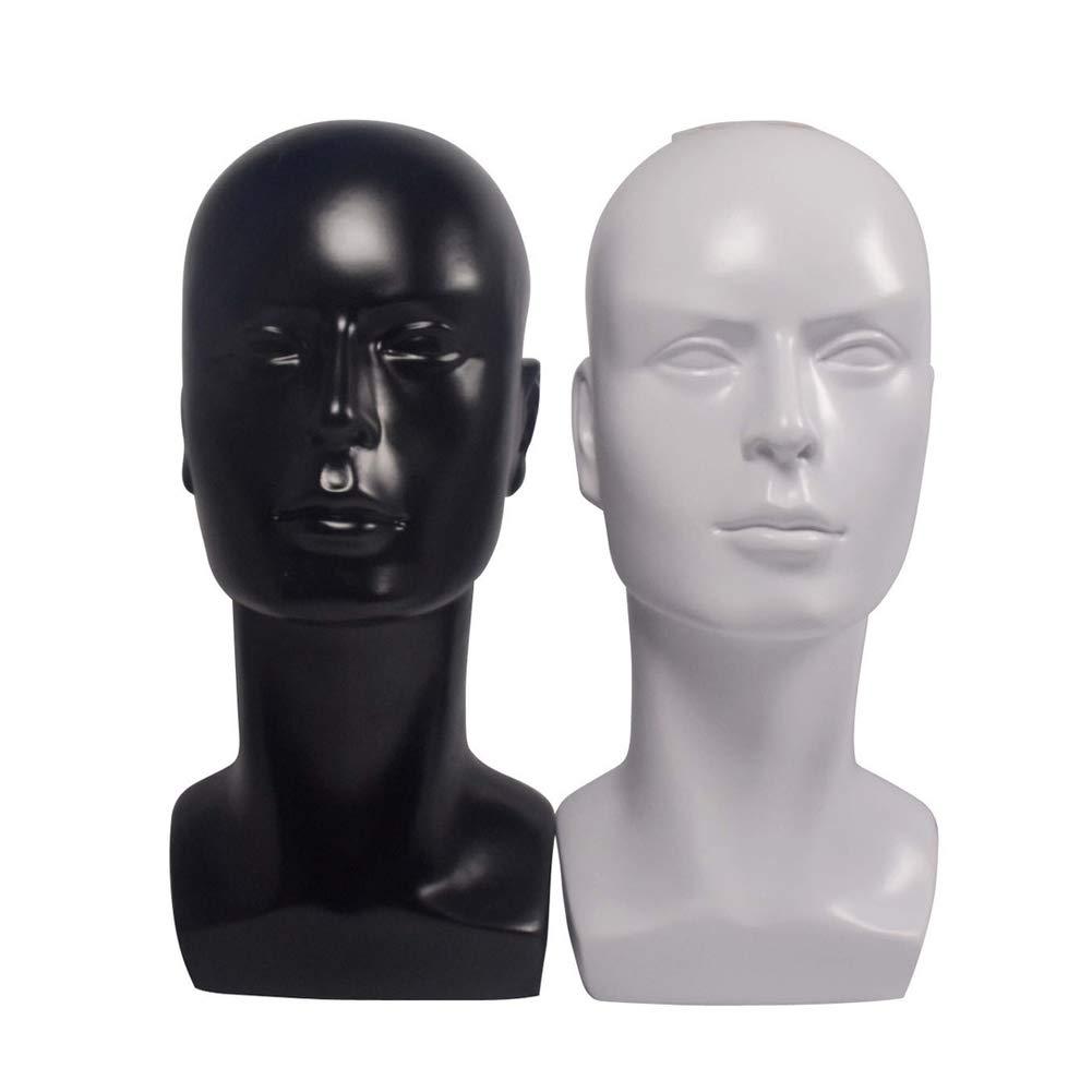 Black Plastic Head Model for Wigs Hairpieces Glasses Display Stand Mannequin Manikin Head gu6uesa8n Man Mannequin Head