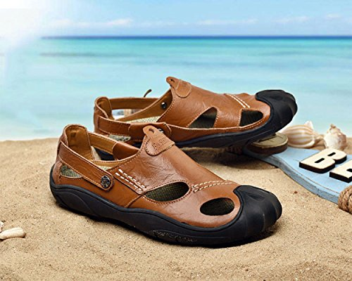 Scarpe LEDLFIE Sandali Outdoor Sports Fashion Summer Sandali Spiaggia Casual Baotou da Casual Brown 8FY8aBqrn