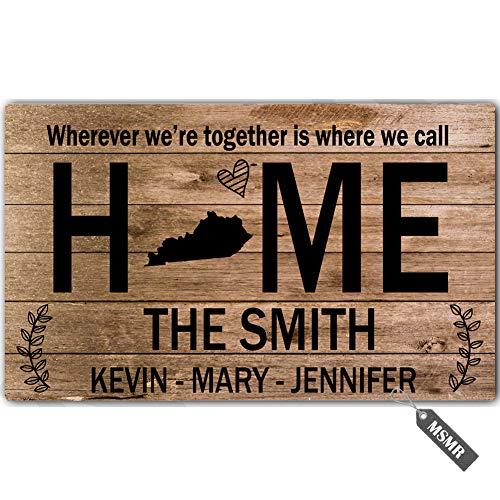 Mat Door Kentucky - MsMr Personalized [Your Name] Door Mat Indoor Outdoor Custom Doormat Decorative Home Office Welcome Mat Home Love Kentucky Door Mat 30
