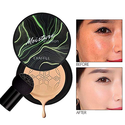 Firstfly Mushroom Air Cushion BB Cream Moisturizing Concealer Makeup Base Primer Liquid Foundation (Natural)