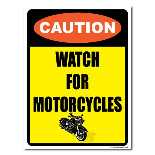 VictoryStore Yard Sign Outdoor Lawn Decorations: Caution Watch for Motorcycles 12