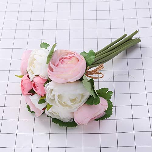 BESTOYARD-10pcs-Artificial-Flowers-Camellia-Bridal-Wedding-Bouquet-Bridesmaid-Bride-Toss-Bouquet-Home-Decoration-Pink-White