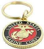 EEC, Inc. US Marine Corps Logo Keychain Patriotic Key Ring Military Gift Men Women Veteran,Red,1 1/2''