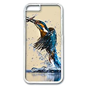 iCustomonline Kingfisher Catching Fish Transparent Plastic Hard Back Shell for iPhone 6( 4.7 inch)